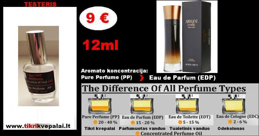 """""""GIORGIO ARMANI"""" CODE PROFUMO Kvepalai Vyrams TESTERIS 12ml (Parfum) Pure Perfume"""