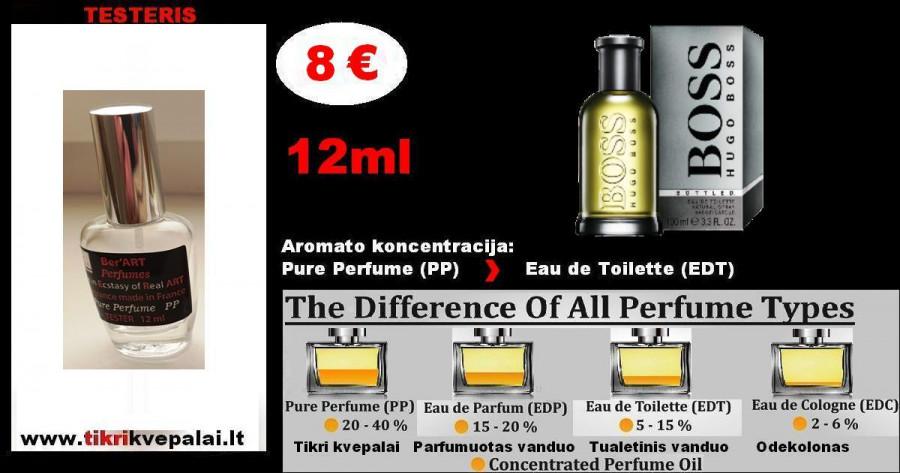 """HUGO BOSS"" BOSS.BOTTLED Kvepalai Vyrams 12ml TESTERIS (Parfum) Pure Perfume"