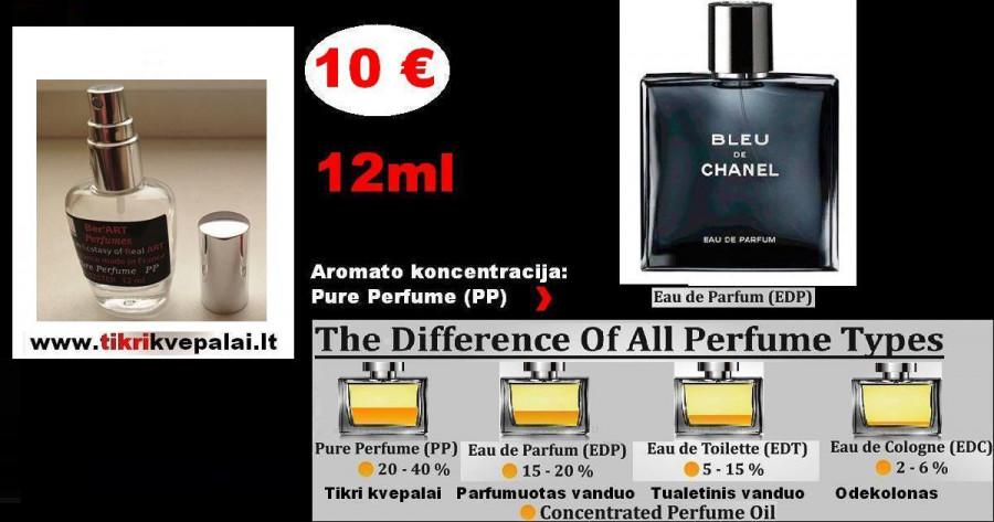 CHANEL de BLEU Kvepalai Vyrams 12ml TESTERIS (Parfum) Pure Perfume