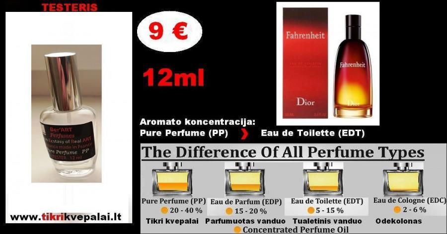 "CHRISTIAN DIOR "" FAHRENHEIT"" 12ml TESTERIS (Parfum) Pure Perfume Kvepalai Vyrams"