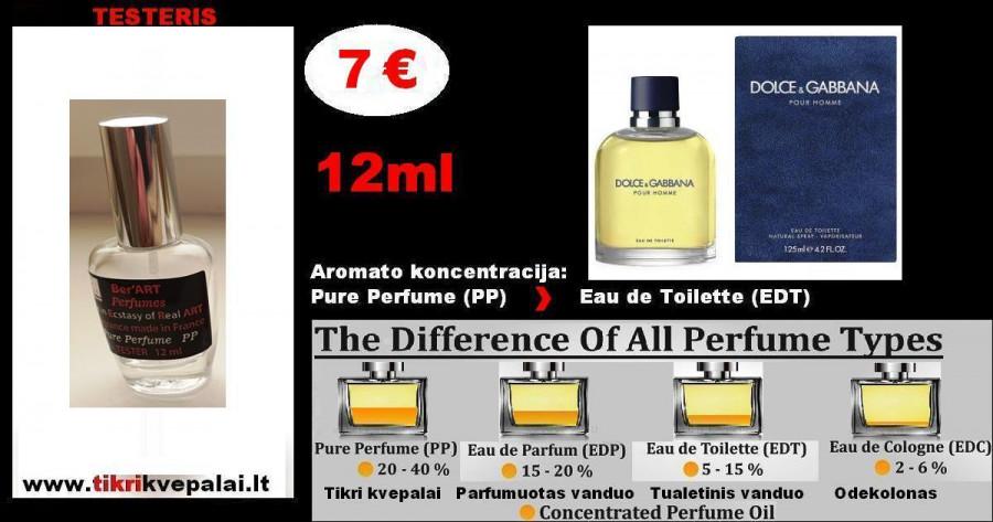 "TESTERIS. DOLCE & GABBANA ""LIGHT BLUE"" Pour Homme 12 ml (Parfum) Pure Perfume Kvepalai Vyrams"