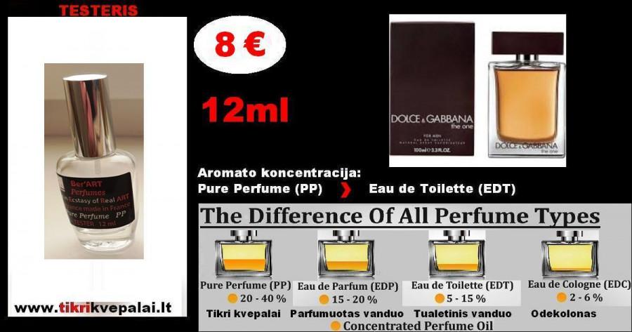 "TESTERIS. DOLCE & GABBANA ""THE ONE"" MEN 12 ml (Parfum) Pure Perfume Kvepalai Vyrams"