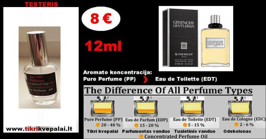 "TESTERIS. GIVENCHY ""GENTLEMAN NEW"" 12 ml (Parfum) Pure Perfume Kvepalai Vyrams"