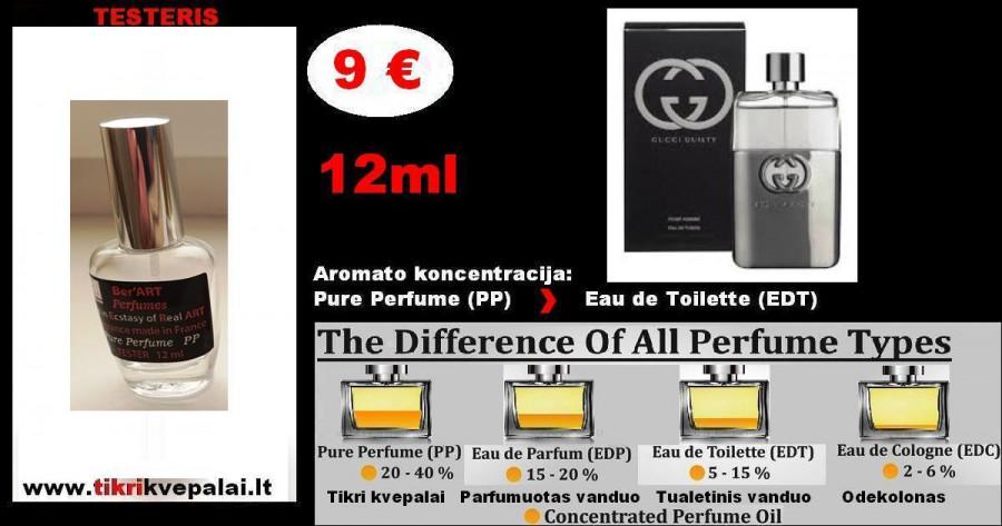 "TESTERIS. GUCCI "" GUILTY"" POUR HOMME 12 ml (Parfum) Pure Perfume Kvepalai Vyrams"
