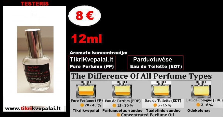 """""""PAKO RABANE"""" INVICTUS 12ml (Parfum) Pure Perfume Kvepalai Vyrams"""