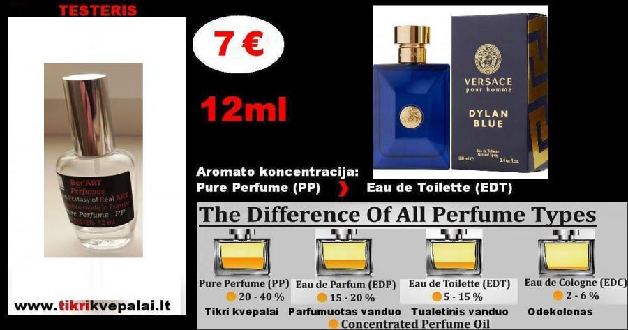 "VERSACE ""DYLAN BLUE"" 12ml (Parfum) Pure Perfume Kvepalai Vyrams"