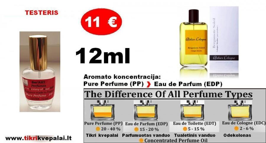 "TESTERIS. ATELIER COLOGNE ""BERGAMOTE SOLEIL"" 12ml (PP) Pure Perfume Unisex"