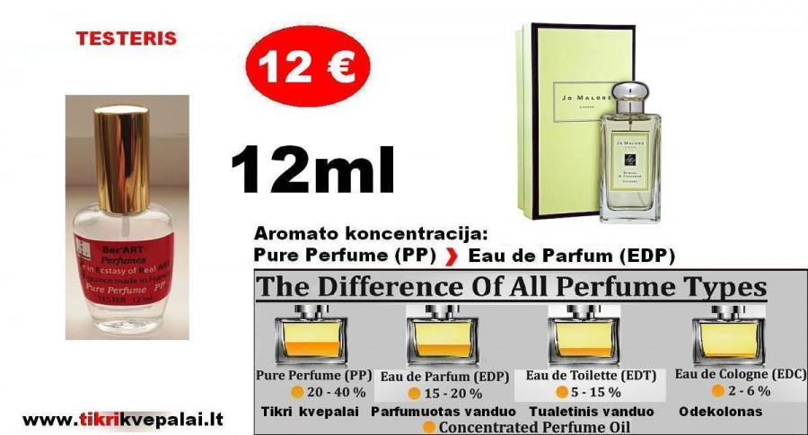 """TESTERIS. JO MALONE """"MIMOSA & CARDAMOM"""" 100ml (PP) Pure Perfume Nišiniai kvepalai moterims ir vyrams"""