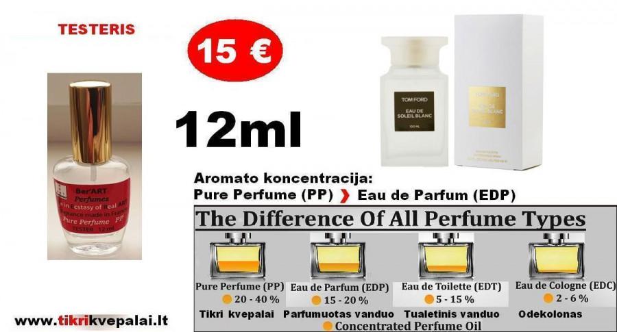 """TESTERIS. TOM FORD """"SOLEIL BLANC""""12ml (PP) Pure Perfume Nišiniai Kvepalai Moterims ir vyrams"""