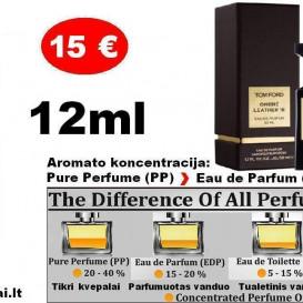 """TESTERIS. Aromatas TOM FORD """"OMBRE LEATHER"""" 12ml (PP) Pure Perfume Kvepalai moterims ir vyrams."""