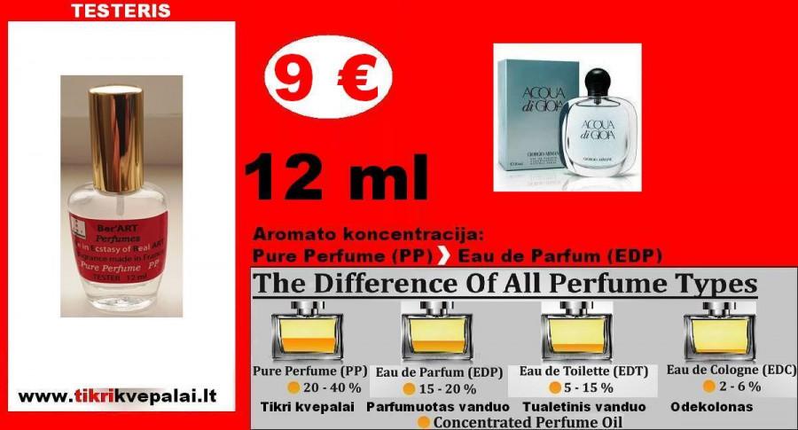 """TESTERIS. GIORGIO ARMANI """"ACQUA di GIOIA"""" 12ml (Parfum) Pure Perfume Kvepalai Moterims"""