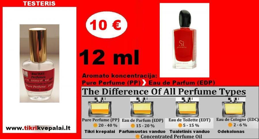 """GIORGIO ARMANI"" Si PASSIONE Kvepalai Moterims 12ml TESTERIS (Parfum) Pure Perfume"