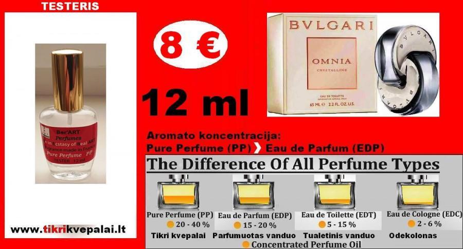 "TESTERIS. BVLGARI ""OMNIA CRYSTALLINE"" 12ml (PP) Pure Perfume Kvepalai Moterims"