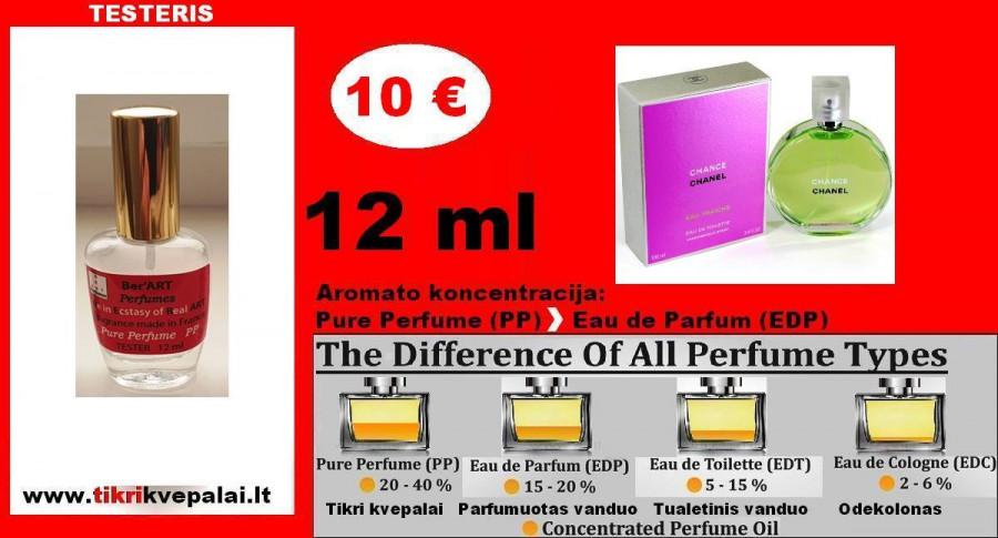 """""""CHANEL"""" CHANCE EAU FRAICHE Kvepalai Moterims 12ml TESTERIS (Parfum) Pure Perfume"""
