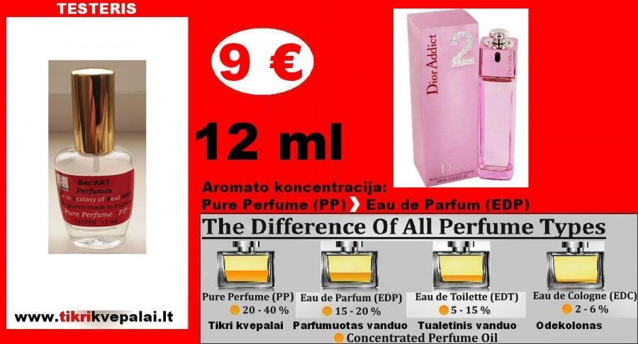 """DIOR"" ADDICT 2 12ml TESTERIS (PP) Pure Perfume Kvepalai Moterims"
