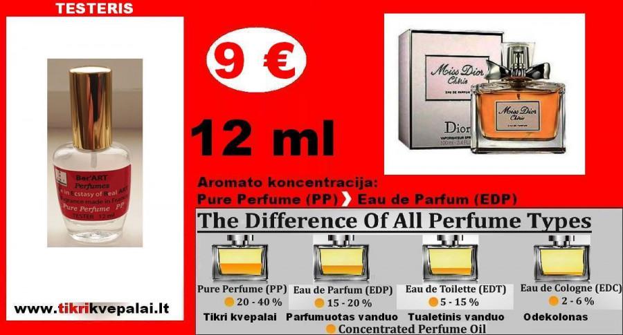 """CHRISTIAN DIOR"" Miss Dior Cherie Kvepalai Moterims 12ml TESTERIS (Parfum) Pure Perfume"