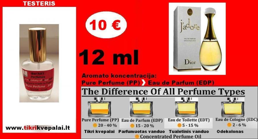 """""""DIOR"""" J'ADORE Kvepalai Moterims 12ml TESTERIS (Parfum) Pure Perfume"""