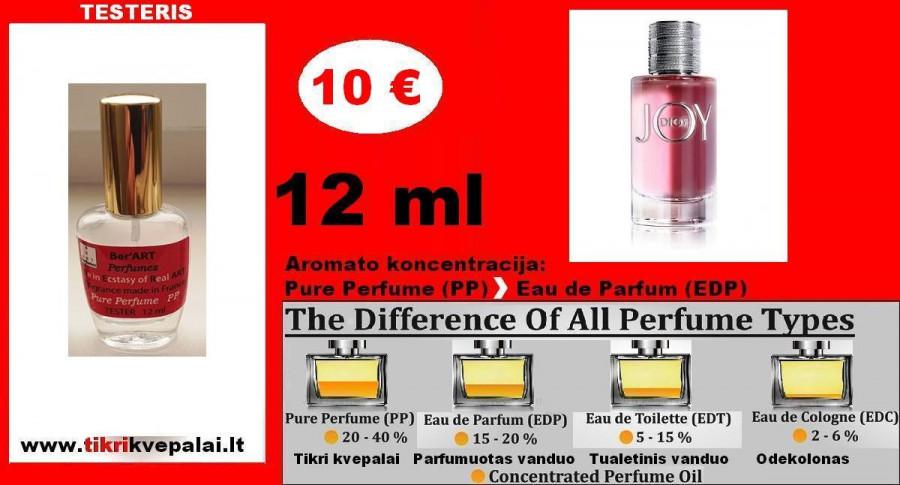"""""""CHRISTIAN DIOR"""" JOY Kvepalai Moterims 12ml TESTERIS (Parfum) Pure Perfume"""