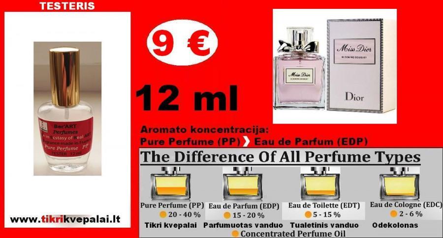 """CHRISTIAN DIOR"" MISS DIOR BLOOMING BOUQUET Kvepalai Moterims 12ml TESTERIS (Parfum) Pure Perfume"