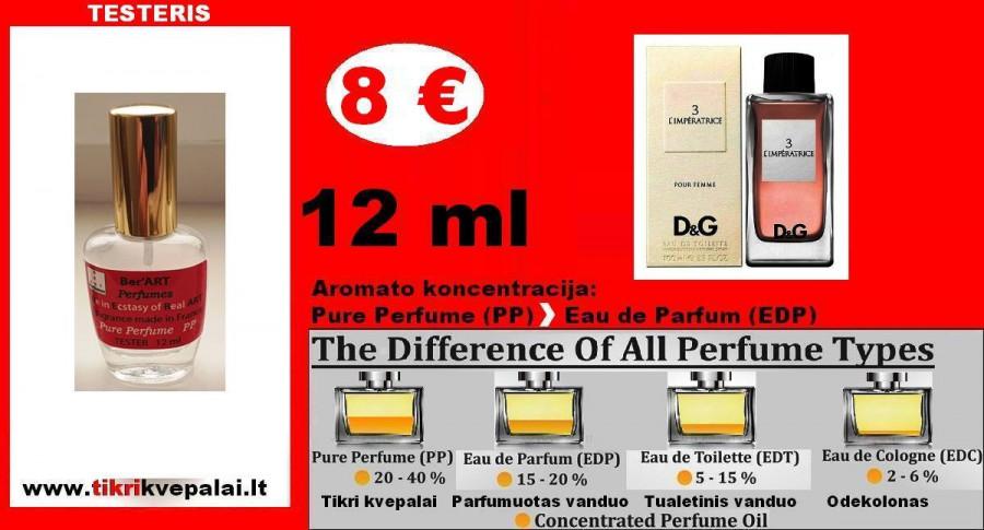 """DOLCE & GABBANA"" L'Imperatrice 3 Kvepalai Moterims 12ml TESTERIS (Parfum) Pure Perfume"