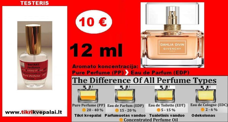 "TESTERIS. ""GIVENCHY"" DAHLIA DIVIN 12 ml (PARFUM) Pure Perfume Kvepalai Moterims"