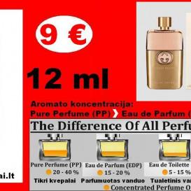 """GUCCI"" GUILTY Kvepalai Moterims 12ml TESTERIS (Parfum) Pure Perfume"