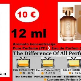 """HUGO BOSS"" THE SCENT FOR HER Kvepalai Moterims 12ml TESTERIS (PP) Pure Perfume"