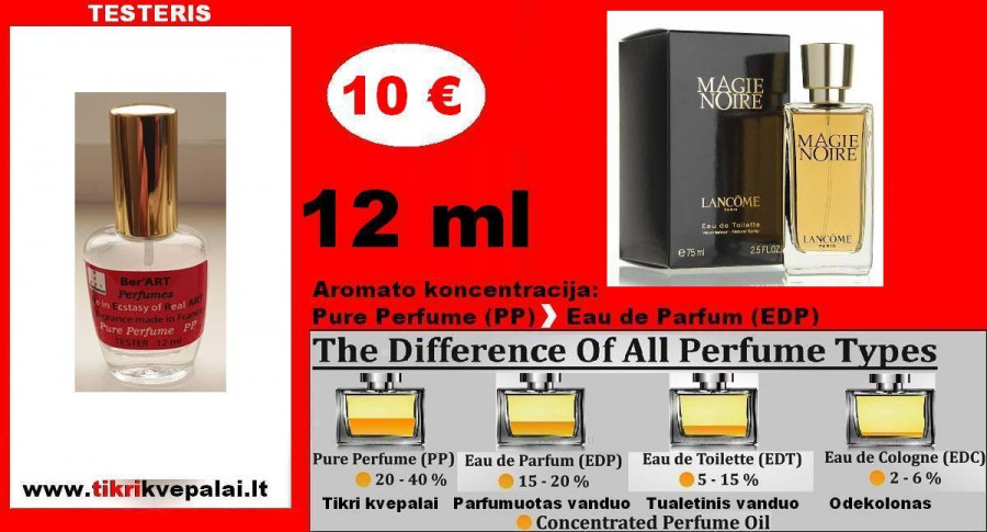 """LANCOME"" MAGIE NOIRE 12 ml (PARFUM) Pure Perfume Kvepalai Moterims"