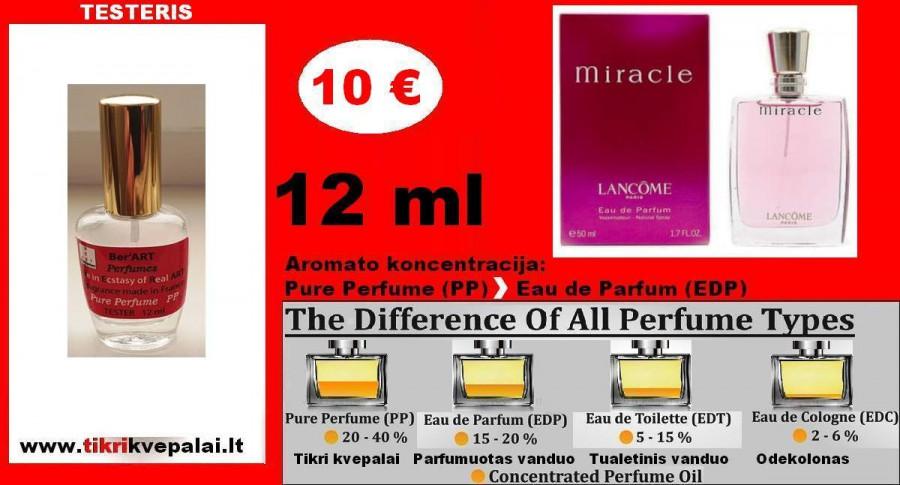 "TESTERIS. LANCOME ""MIRACLE"" 12 ml (Parfum) Pure Perfume Kvepalai Moterims"