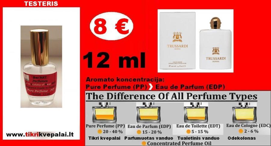 """TRUSSARDI"" DONNA Kvepalai Moterims 12ml TESTERIS (PARFUM) Pure Perfume - 8 €"