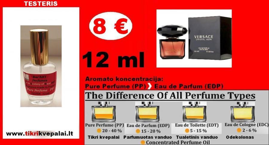 VERSACE CRYSTAL NOIR Kvepalai Moterims 12ml TESTERIS (Parfum) Pure Perfume