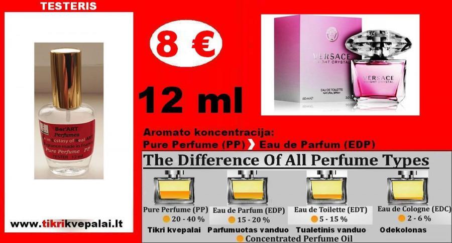 """""""VERSACE"""" BRIGHT CRYSTAL Kvepalai Moterims 12ml TESTERIS( Parfum) Pure Perfume"""