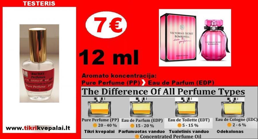 """BOMBSHELL """"VICTORIA SECRET"""" Kvepalai Moterims 12 ml TESTERIS (PARFUM) Pure Perfume"""