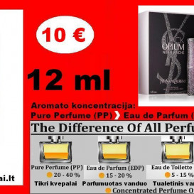 """YVES SAINT LAURENT"" BLACK OPIUM NUIT BLANCHE Kvepalai Moterims 12ml TESTERIS (PARFUM) Pure Perfume"
