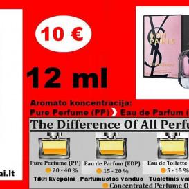 "MON PARIS ""YVES SAINT LAURENT"" Kvepalai Moterims 12ml TESTERIS (Parfum) Pure Perfume"