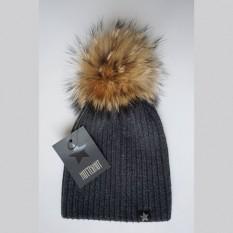 Vilnonė kepurė 49A pilka