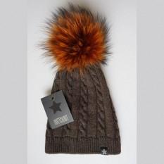 Vilnonė kepurė 50A ruda