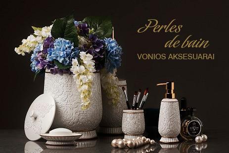 PERLES DE BAIN   klasikinio stiliaus vonios aksesuarai