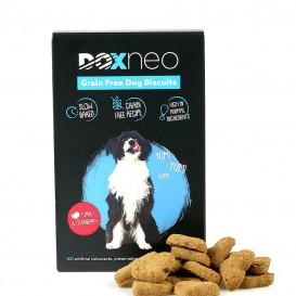 DOXNEO begrūdžiai sausainiai šunims su kalakutiena ir spanguolėmis