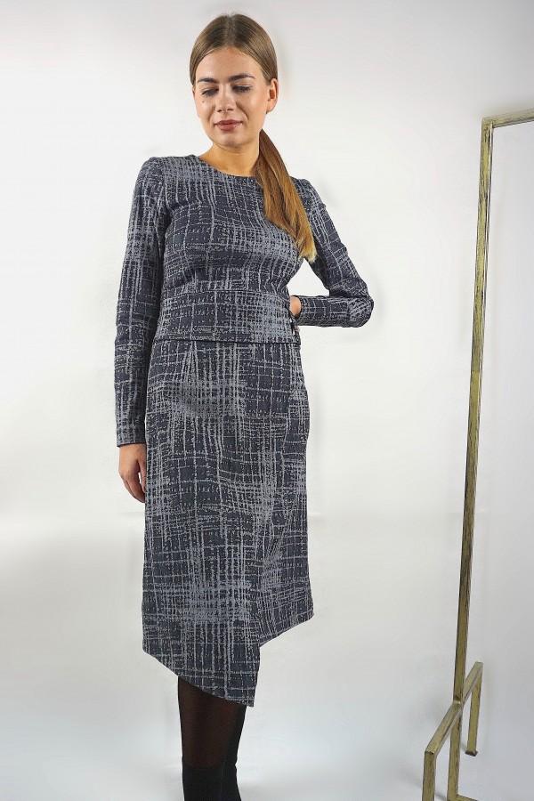 Pilka klasikinė suknelė
