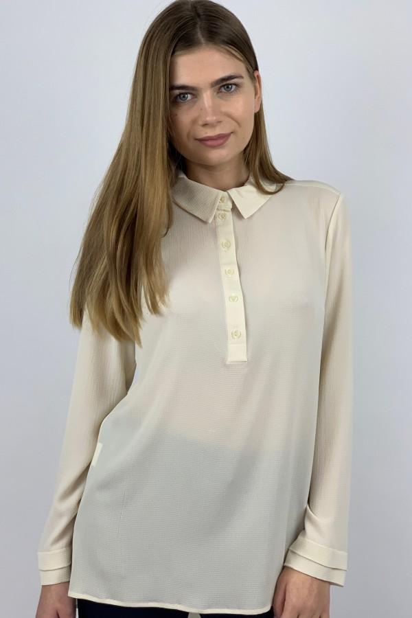 Gelsvos spalvos marškiniai su prailgintu galu