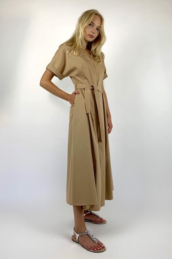 Švelniai rudos spalvos suknelė