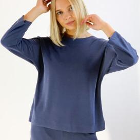 Mėlynos spalvos palaidinė iš modalo