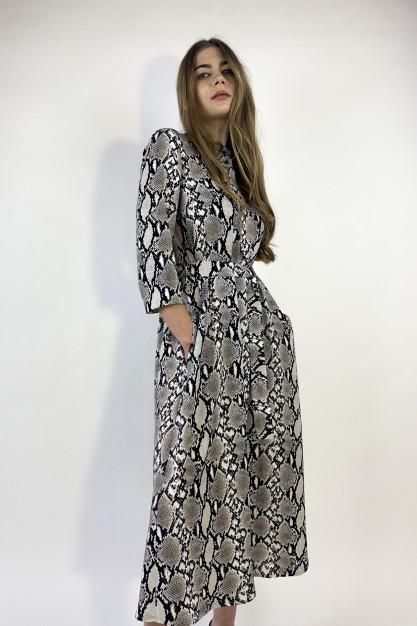 Gyvatės rašto suknelė