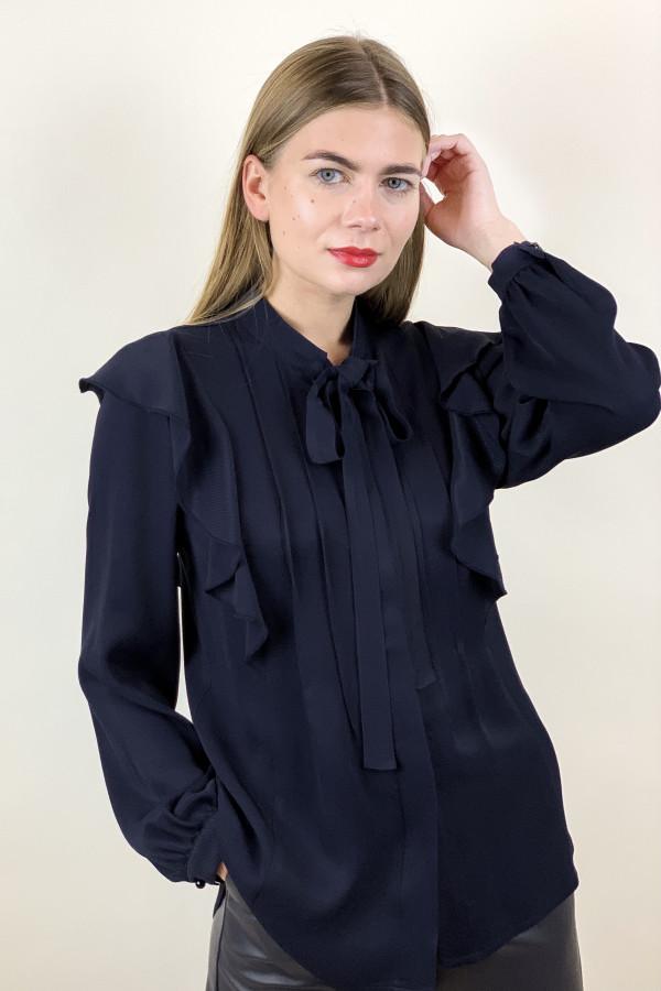 Tamsiai mėlynos spalvos marškiniai