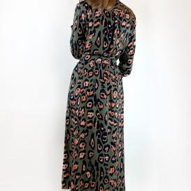 Raštuota suknelė iš viskozės