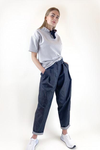 Kelnės iš džinsinio audinio
