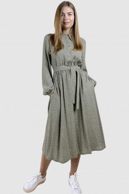 Alyvuogių spalvos suknelė