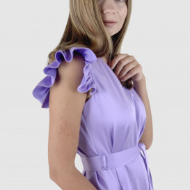 Alyvų spalvos suknelė