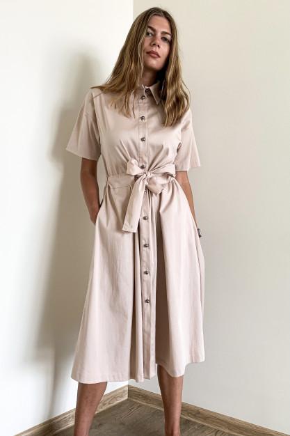 Smėlio spalvos suknelė